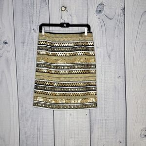 ***W by worth gold and black skirt sz. 6